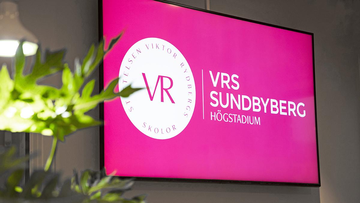 VIktor Rydbergs Skola i Sundbyberg. Skärm från Samsung